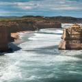 Landscape photo of the Twelve Apostles on the Great Ocean Road, Victoria, Australia.