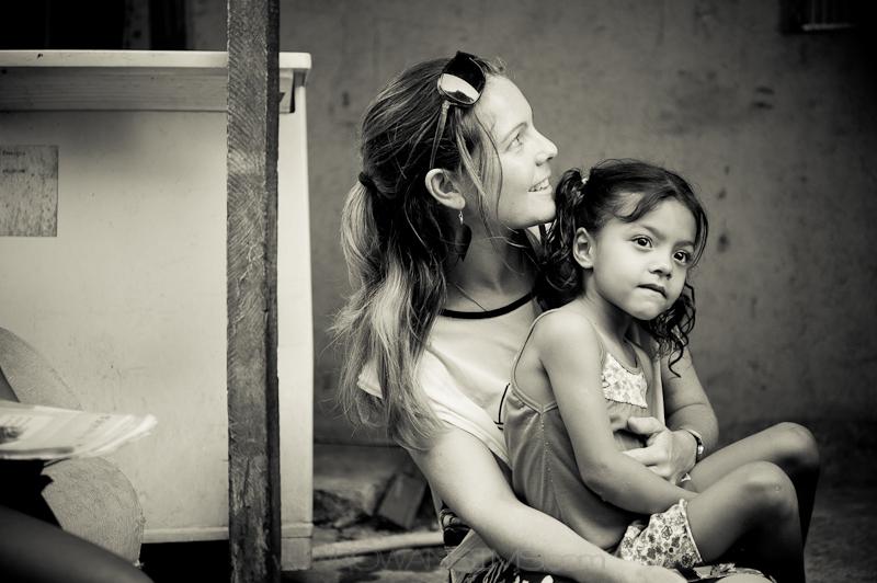 brazilian girl in City of God favela.