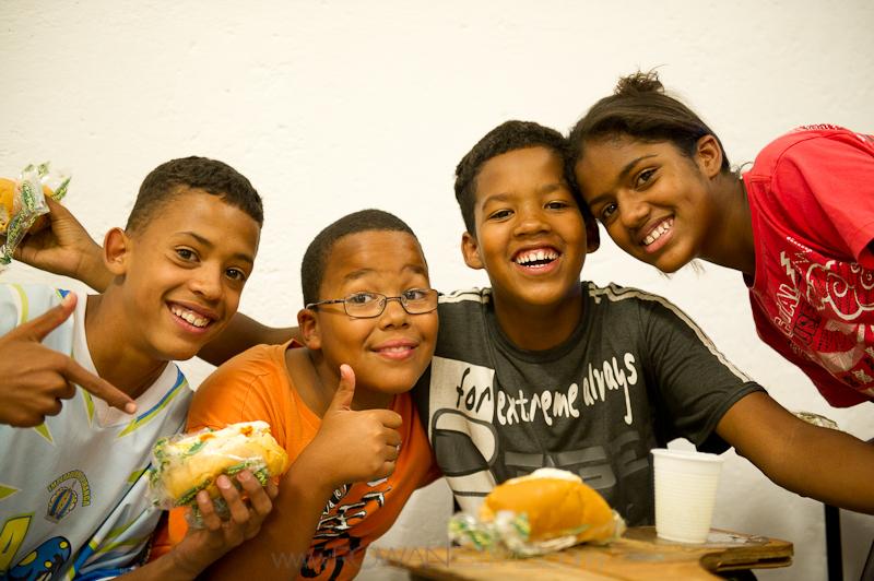 Brazilian children in Heliopolis favela.