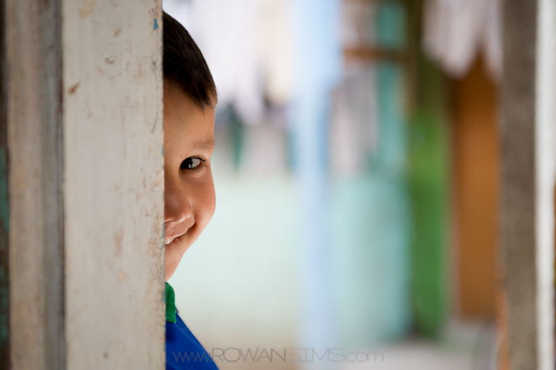 Brazilian boy in City of God favela.