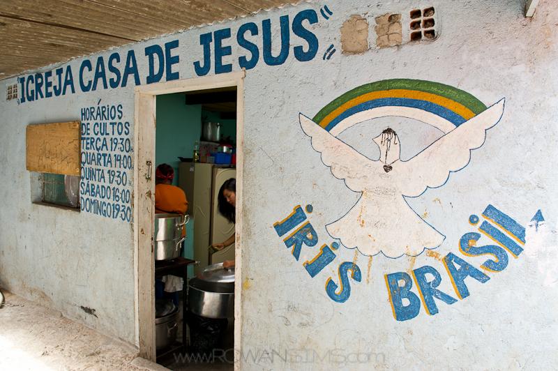 Iris Ministries Brazil's feeding centre in City of God.