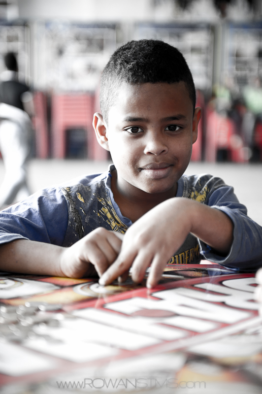 Brazilian boy in Heliopolis favela.