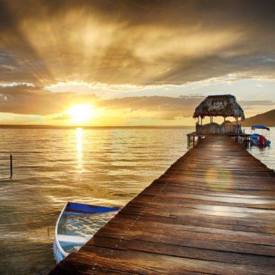 Lake Peten Itza Landscape, Guatemala