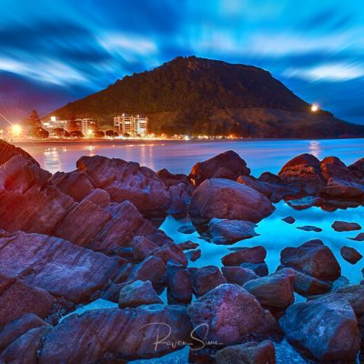 "Landscape photo of Mauao from Leisure Island ""The Mount"" Mt Maunganui Tauranga Bay Of Plenty New Zealand"