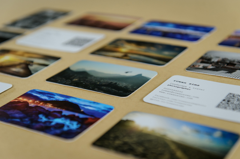 Business cards for photographers from Moo