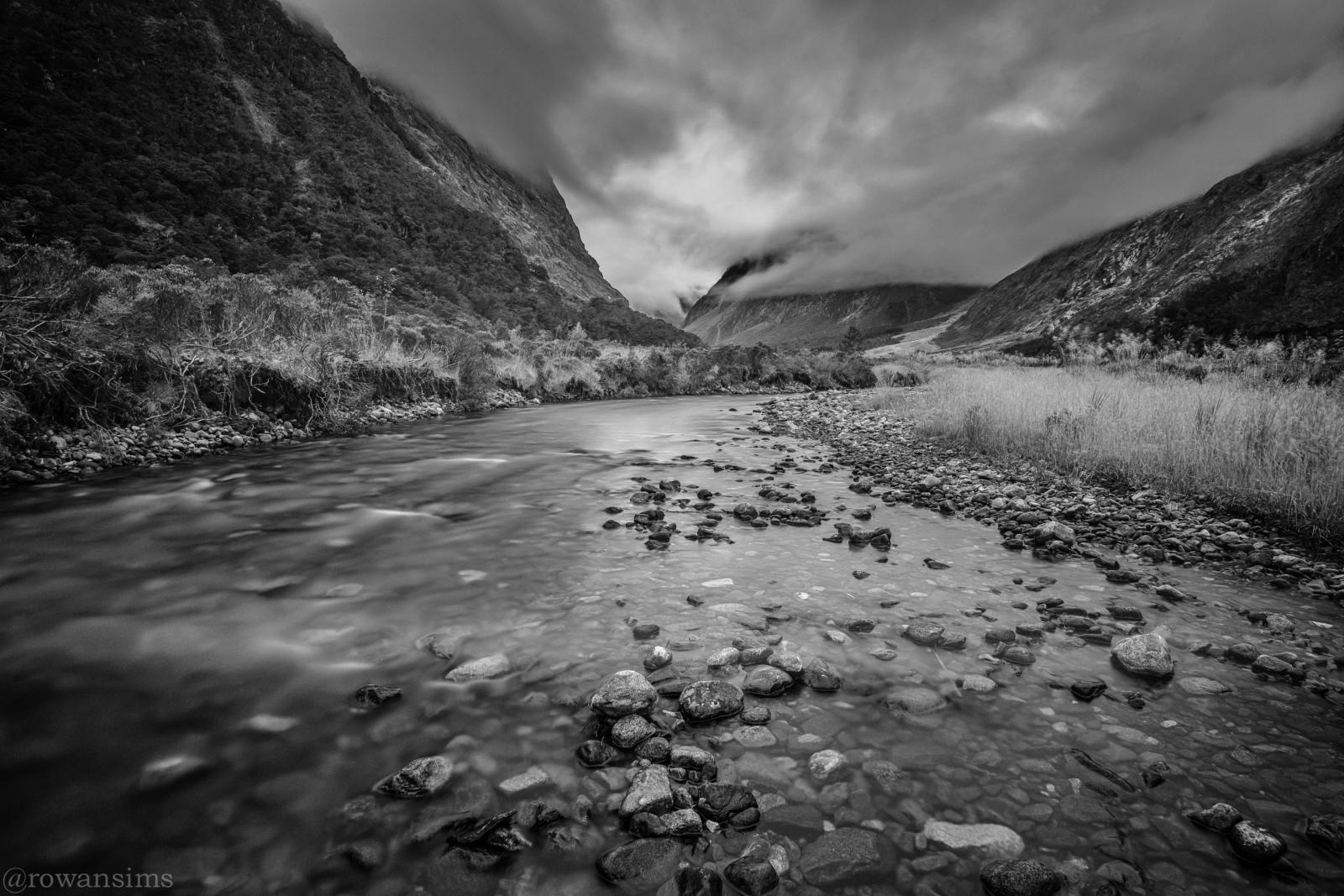Landscape photo Monkey Creek road Milford Sound Fiordland New Zealand