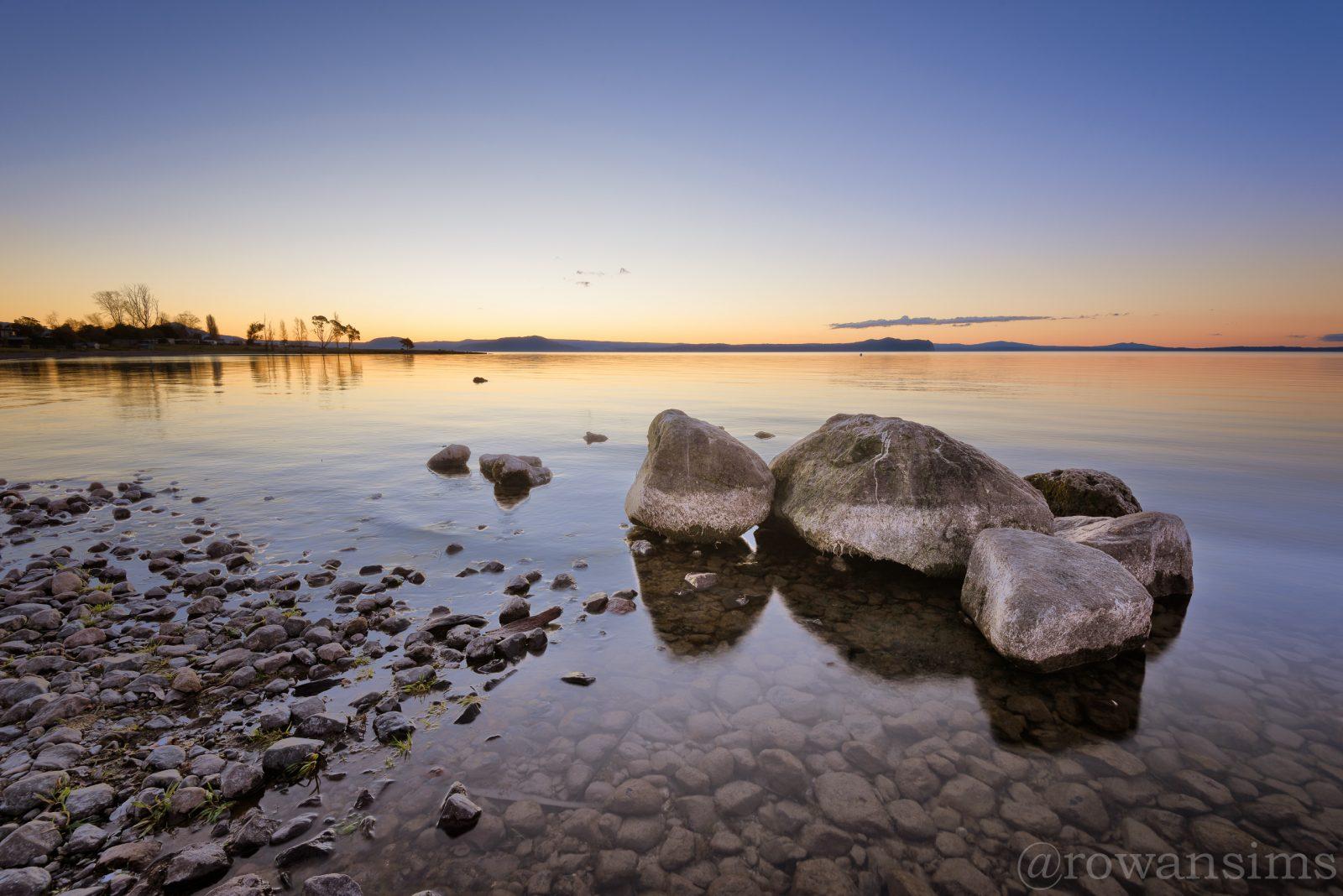 September 2014 desktop wallpaper Landscape photo sunset Lake Taupo New Zealand