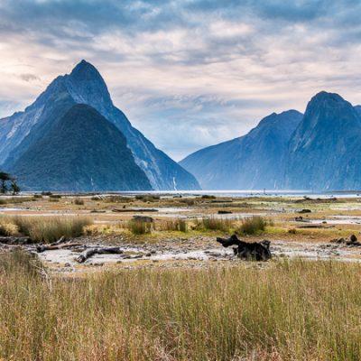 Landscape photo of Milford Sound, Fiordland, New Zealand