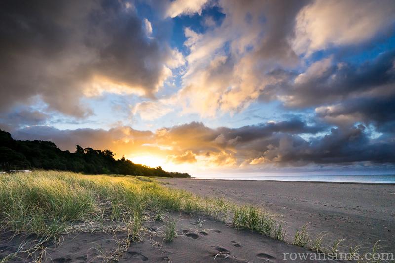 Sunset over Oakura Beach, Taranaki, New Zealand