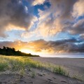 Free desktop wallpaper of sunset over Oakura Beach Taranaki New Zealand