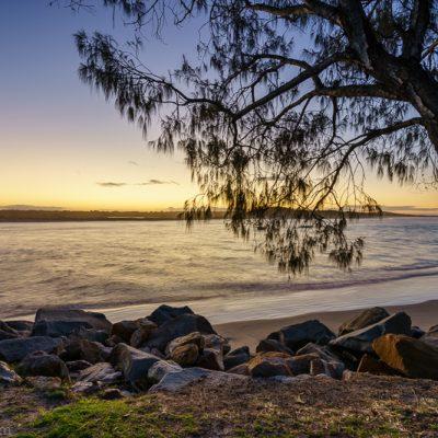 Noosa Beach Sunset, Sunshine Coast, Queensland, Australia