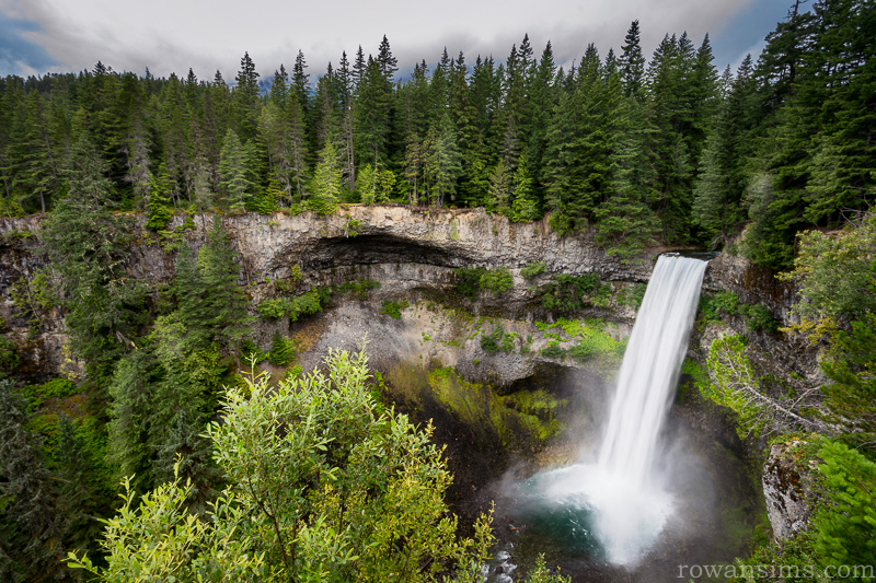 Landscape photo of Brandywine Falls in Whistler British Columbia Canada
