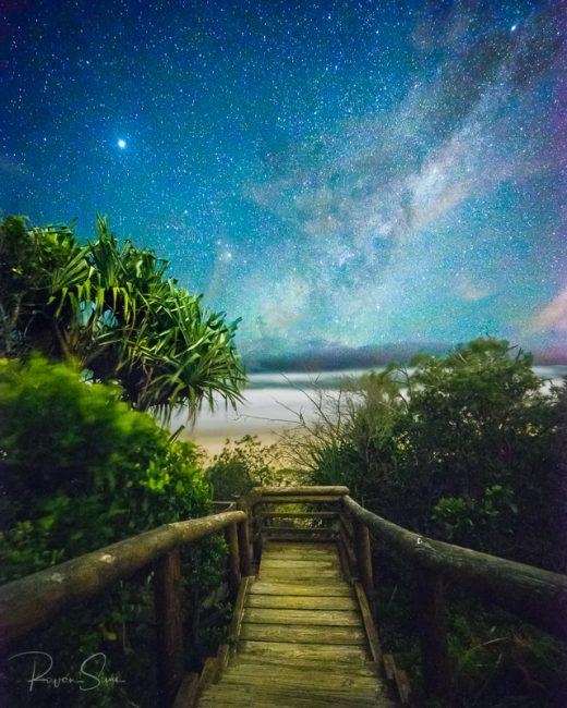 milky way sunshine beach noosa heads sunshine coast queensland australia