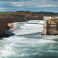 Landscape photo of the Twelve Apostles on the Great Ocean Road, Victoria, Australia.