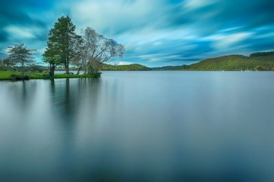 Long exposure of Lake Rotoiti, Rotorua, New Zealand from Amora Lake Resort.