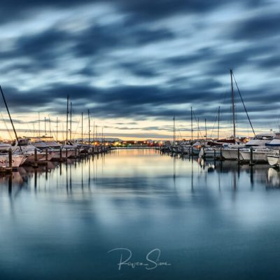 Landscape photo of boats in Tauranga Bridge Marina, Mount Maunganui, New Zealand