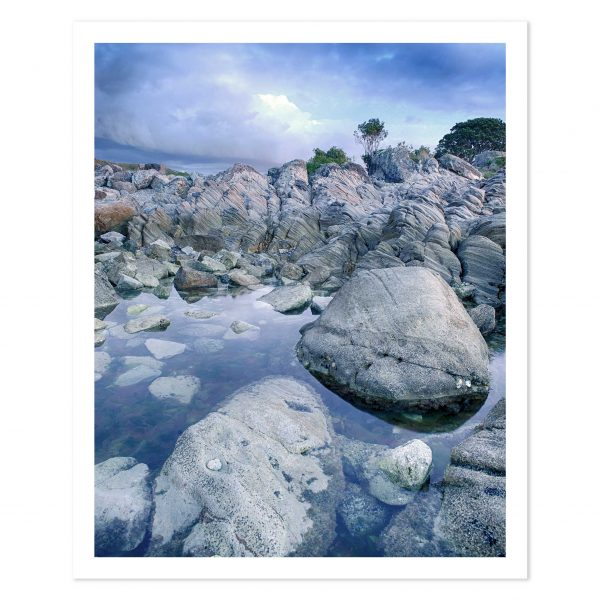 photo print of rocks on moturiki leisure island mount maunganui bop new zealand