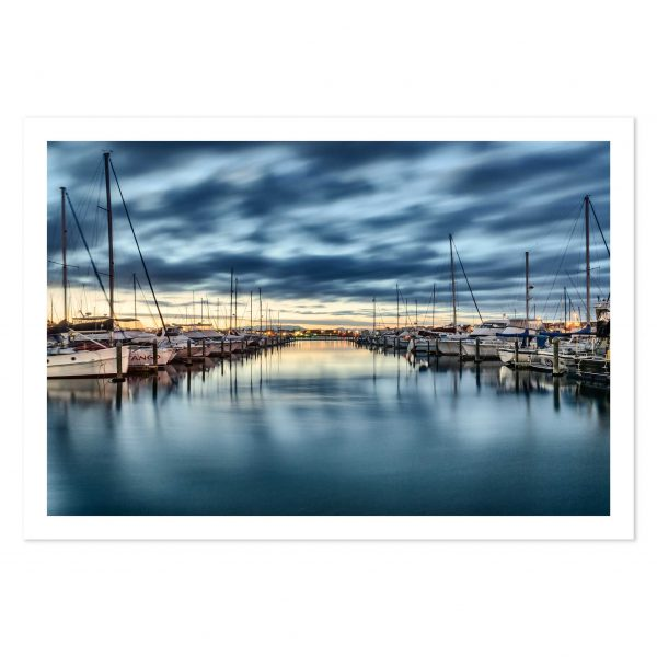 photo print of boats in Tauranga Bridge Marina, Mount Maunganui, BOP, New Zealand.