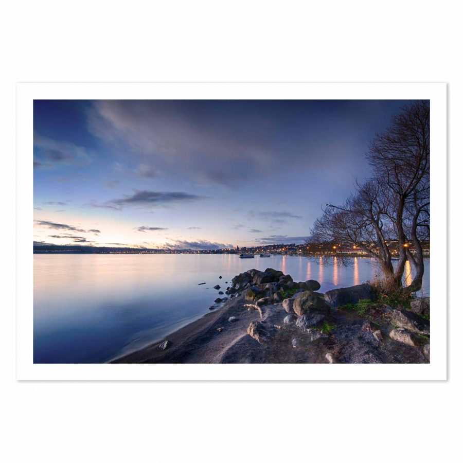 Photo print of Two Mile Bay, Lake Taupo, New Zealand.