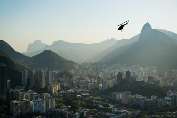 Landscape photo over Rio de Janeiro city, Brazil, taken from Sugar Loaf.