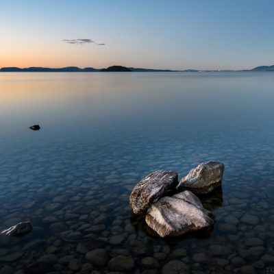 Long exposure landscape photo of Mission Bay, Lake Taupo, New Zealand