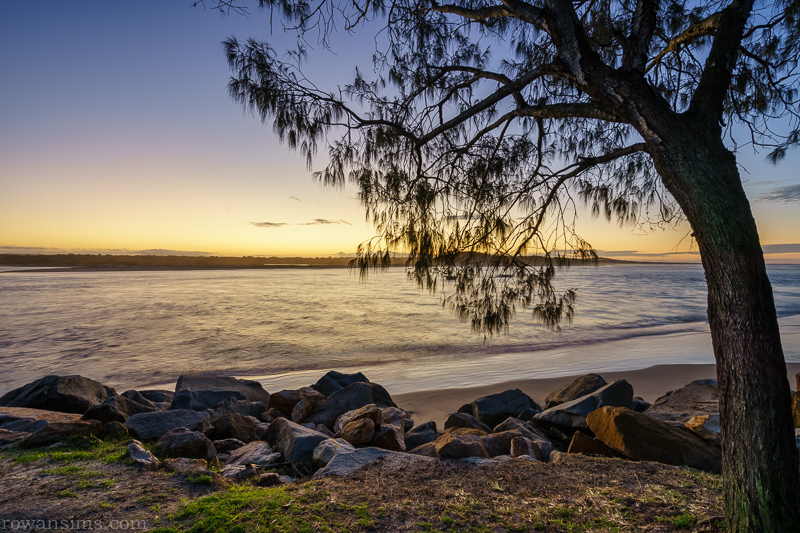 Noosa Beach Sunset, Sunshine Coast, Queensland, Australia