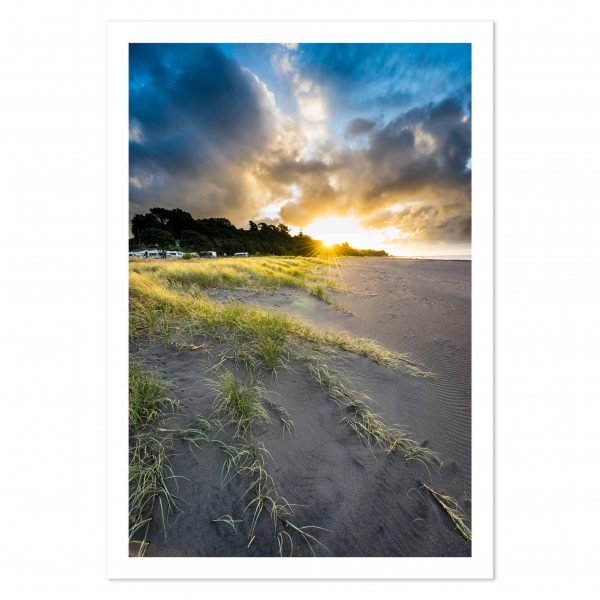Photo print of Oakura Beach Holiday Park, New Plymouth, Taranaki, New Zealand