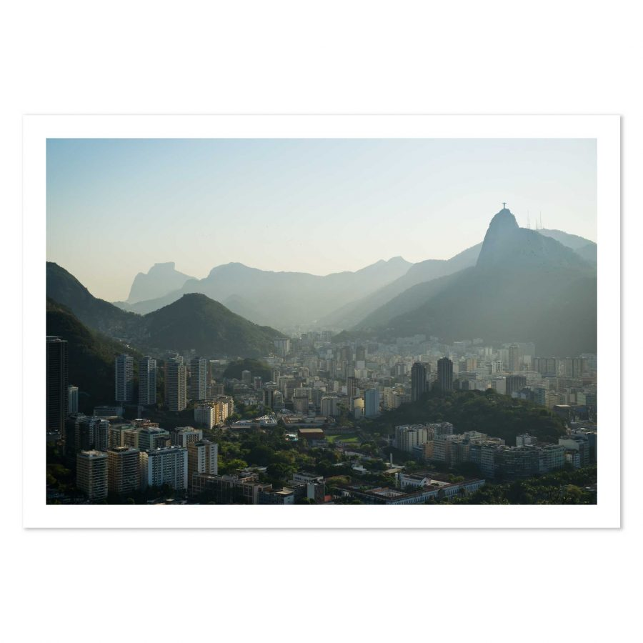 photo print of Rio de Janeiro city, Brazil, taken from Sugar Loaf.