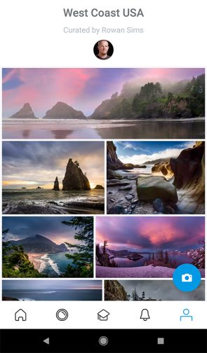 500px Mobile App Screenshot