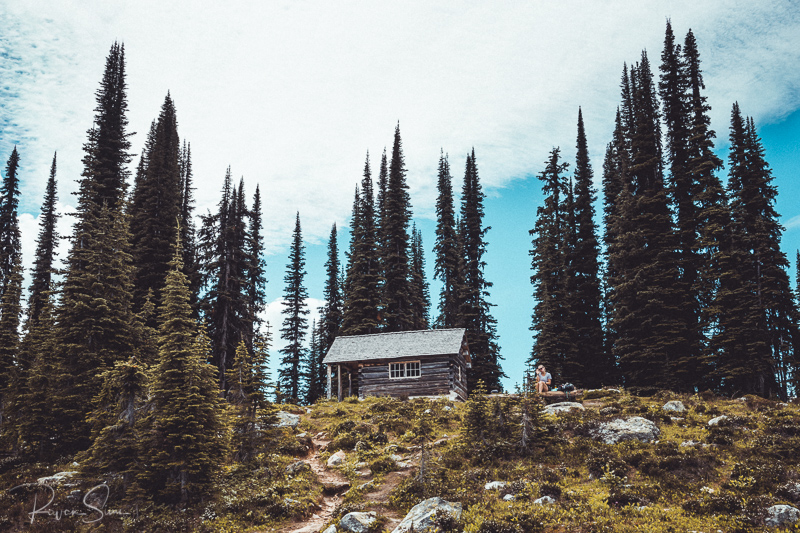 View of Eva Lake cabin Mount Revelstoke National Park, British Columbia, Canada