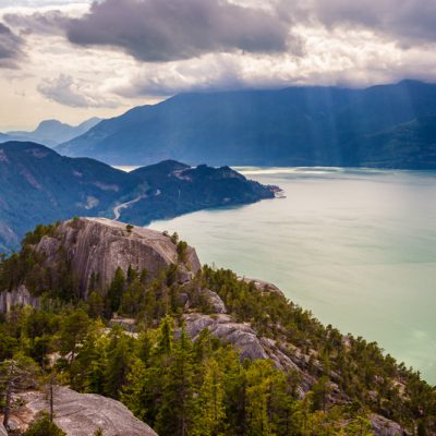 Howe Sound from the summit of Stawamus Chief, Squamish, British Columbia, Canada