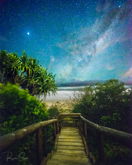 milky way sunshine beach noosa heads sunshine coast queensland australia