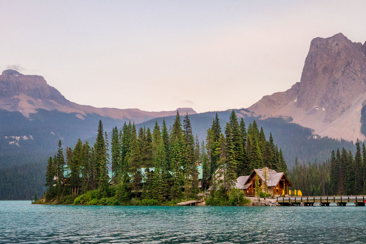 Emerald Lake at dusk, Yoho National Park, British Columbia, Canada