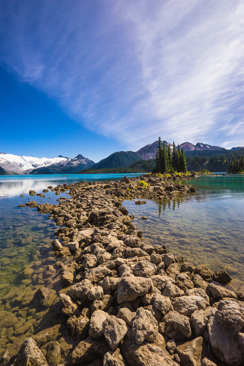 Summer hiking trail to Garibaldi Lake, British Columbia, Canada