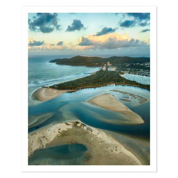 photo print of sunset over Noosa Spit, Noosa Heads, Sunshine Coast, Queensland, Australia