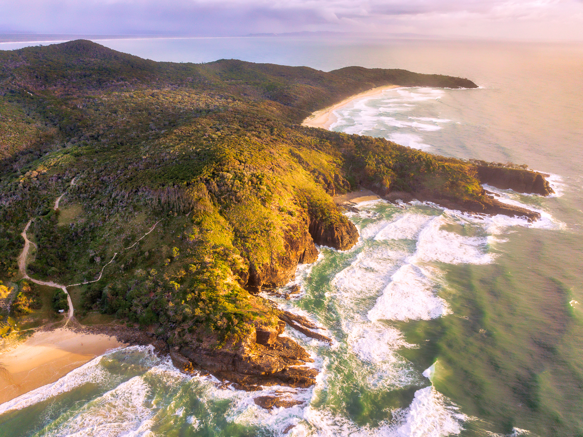 May 2018 desktop wallpaper drone photo of Noosa National Park, Noosa Heads, Sunshine Coast, Queensland, Australia