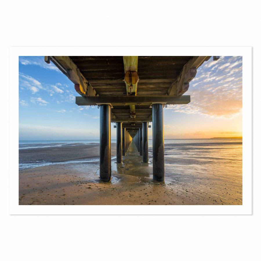 Photo print of Sunrise at Urangan Pier, Hervey Bay, Fraser Coast, QLD, Australia