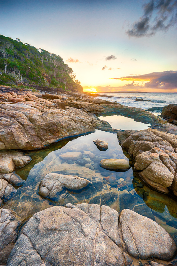 rock pools tea tree bay noosa heads noosa national park sunshine coast queensland australia