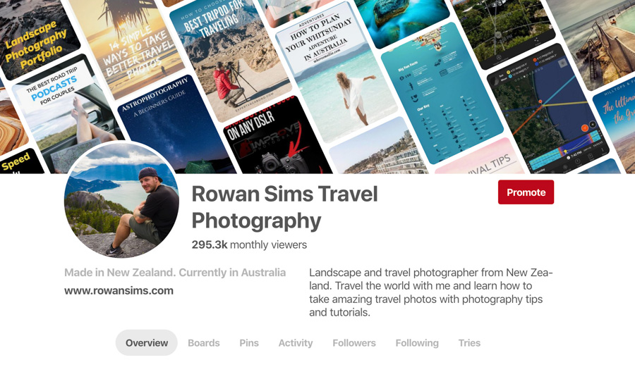 rowan sims travel photography pinterest profile
