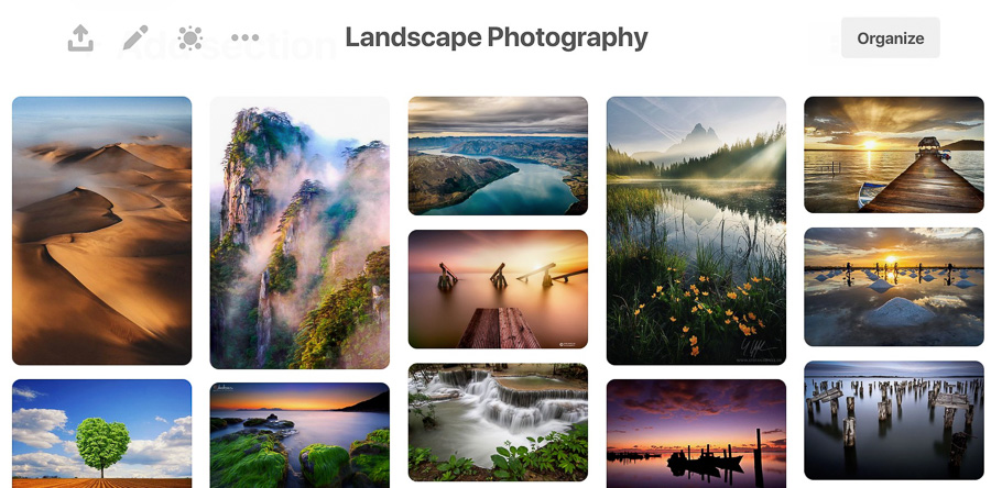 landscape board pinterest for phtoographers guide