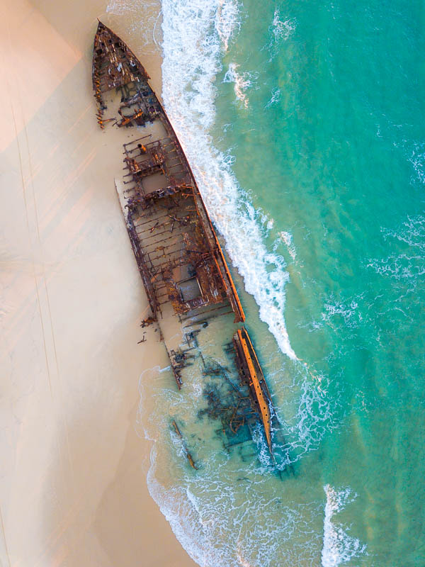 SS Maheno Shipwreck Fraser Island Queensland Road Trip Brisbane To Cairns