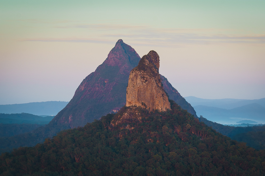 November 2018 Desktop Wallpaper - Mt Ngungun Glass House Mountains Queensland Australia