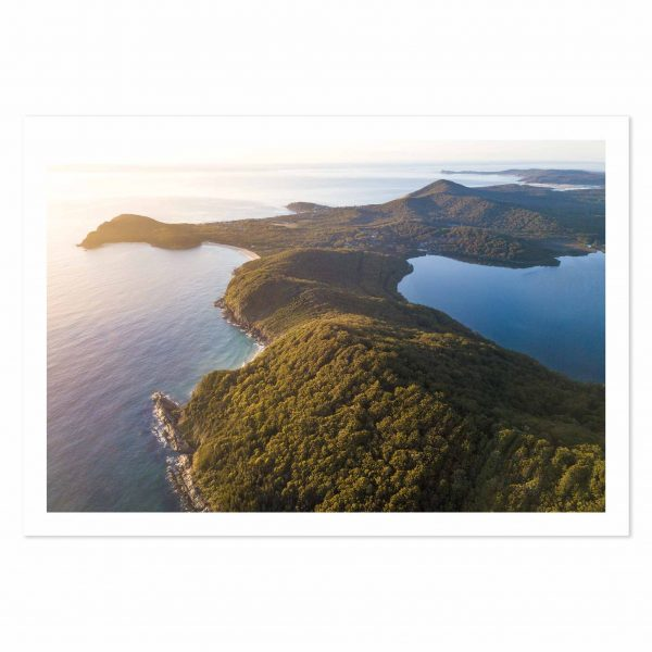Photo print of sunrise over Boomerang Beach, Booti Booti National Park, NSW, Australia