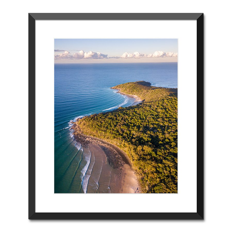 granite bay surf noosa national park sunshine coast queensland australia framed print