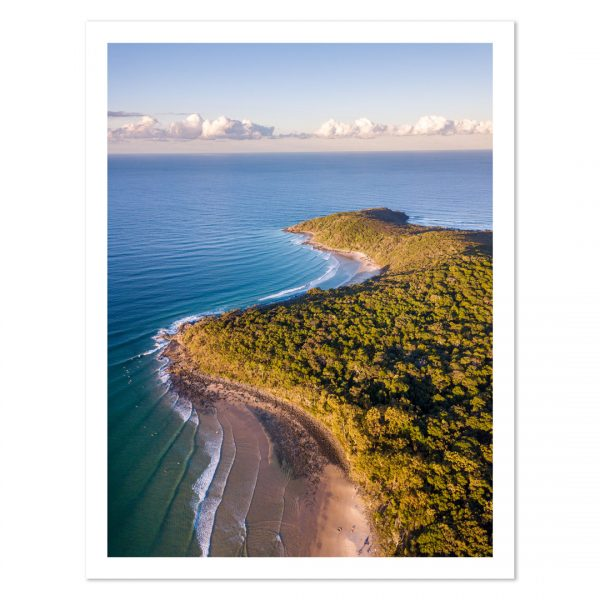 Photo print of Tea Tree Bay and Granite Bay at sunset, Noosa National Park, Noosa Heads, Sunshine Coast, QLD, Australia