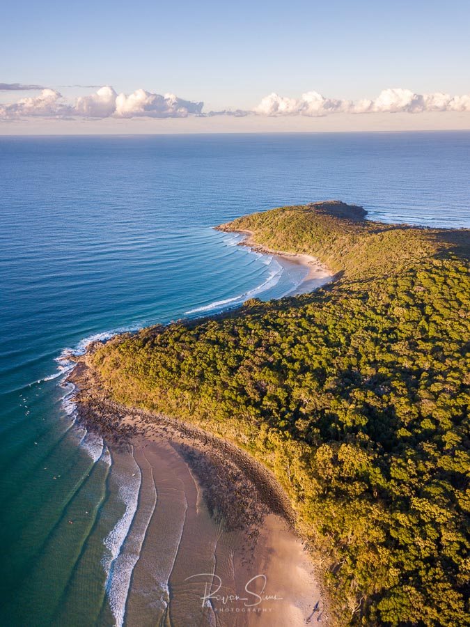 Tea Tree Bay and Granite Bay Surf, Noosa National Park, Noosa Heads, Sunshine Coast, Queensland, Australia