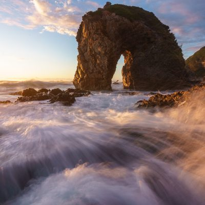 horse head rock sunrise bermagui new south wales nsw australia print