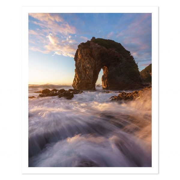 photo print of horse head rock at sunrise bermagui nsw australia