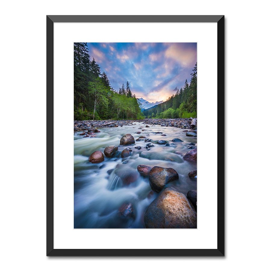 Mt Baker river sunet Mount Baker-Snoqualmie National Forest Washington State USA wall art print