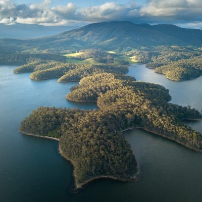 wallaga lake aerial bermagui nsw new south wales australia